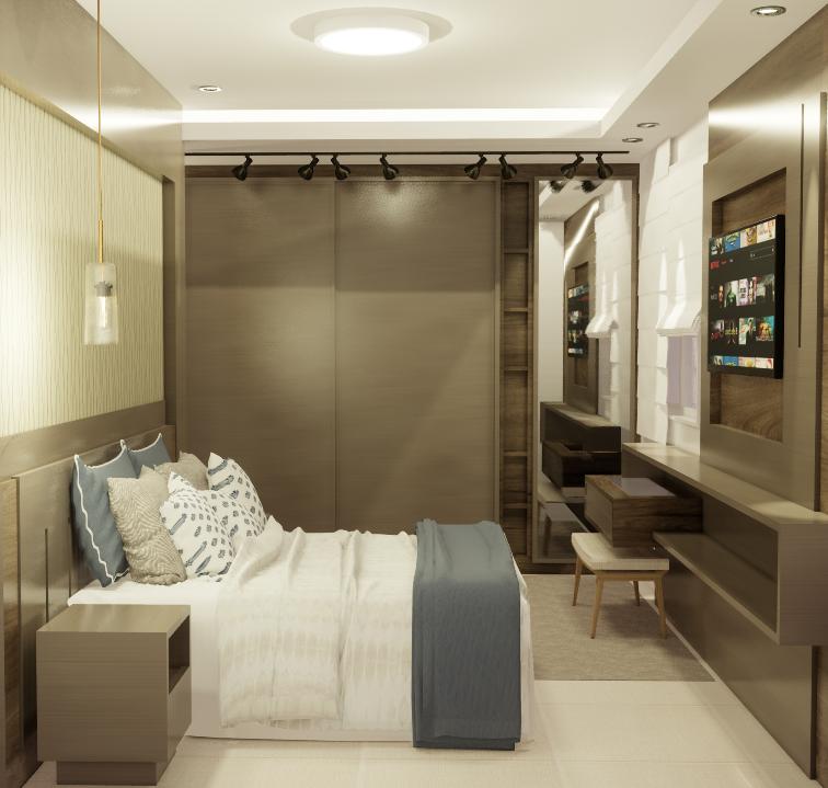 <p>Apartamento com 75,00 m&sup2;, com ampla &aacute;rea social contendo sala de estar / TV, sala de jantar e cozinha integrados; dormit&oacute;rio, banheiro social e su&iacute;te, &aacute;rea de servi&ccedil;o com sacada.<br /> &nbsp;</p>