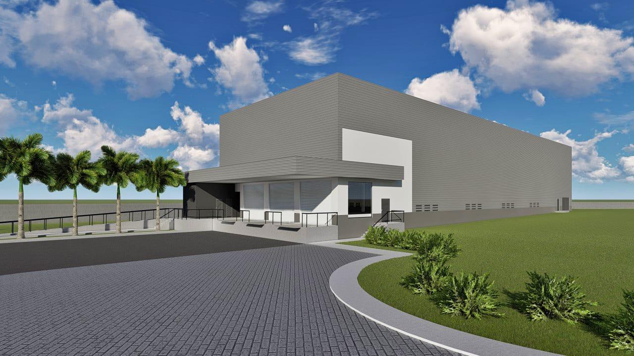 Projeto para barracões industriais